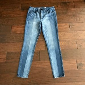 Seven7 Two Tone High Rise Skinny Jean